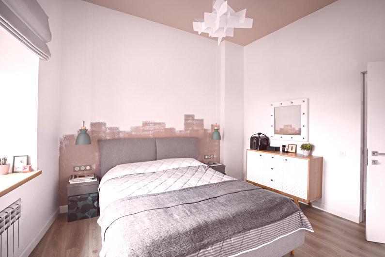 Design de chambre à coucher dans le style scandinave - 65 photos ...