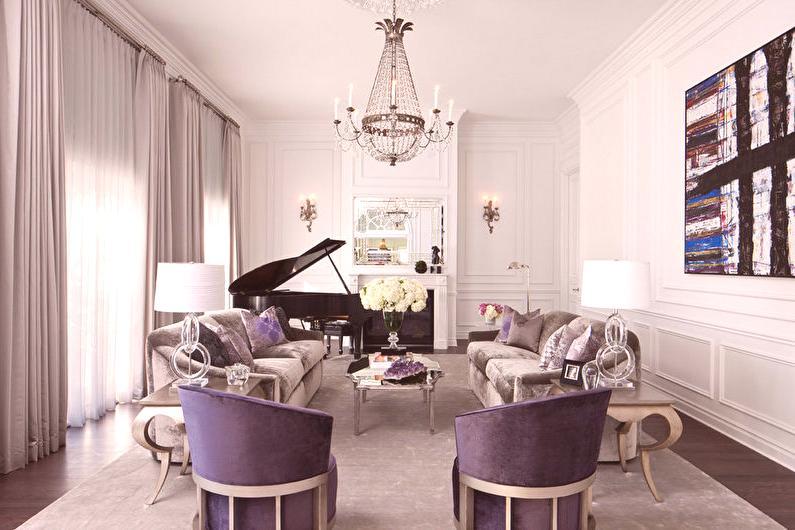 Salon de style classique (68 photos): design d\'intérieur