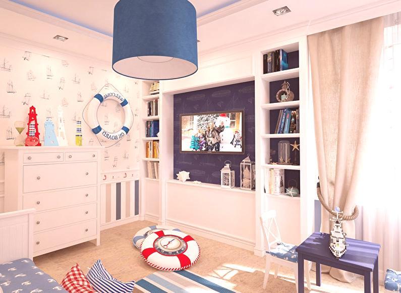 e6b49d3f1cd2 ... plátna alebo bavlnené tkaniny modrej a bielej farby. Tiebacks pre  záclony môžu byť vyrobené z lán tým