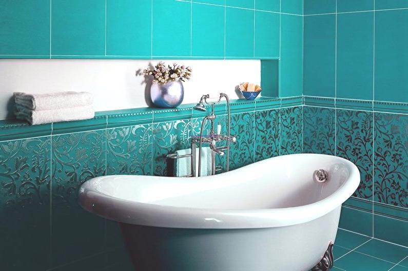 Salle de bain turquoise (75 photos): design d\'intérieur ...