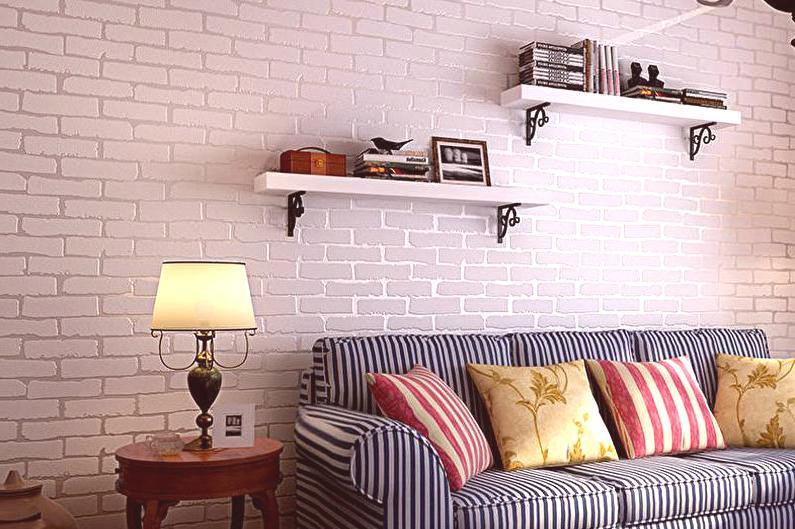 papel tapiz de ladrillo sala de estar ideas Papel Tapiz Debajo Del Ladrillo 75 Fotos En El Interior