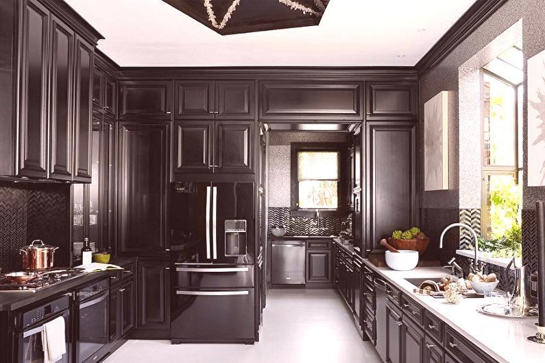 černá Kuchyně 70 Fotografií Interiérový Design Nápady Na