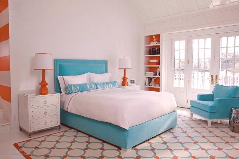 Chambre turquoise (70 photos): aménagement intérieur, idées de ...