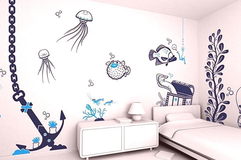 Plantillas Para Muros Para Pintar 60 Fotos E Ideas