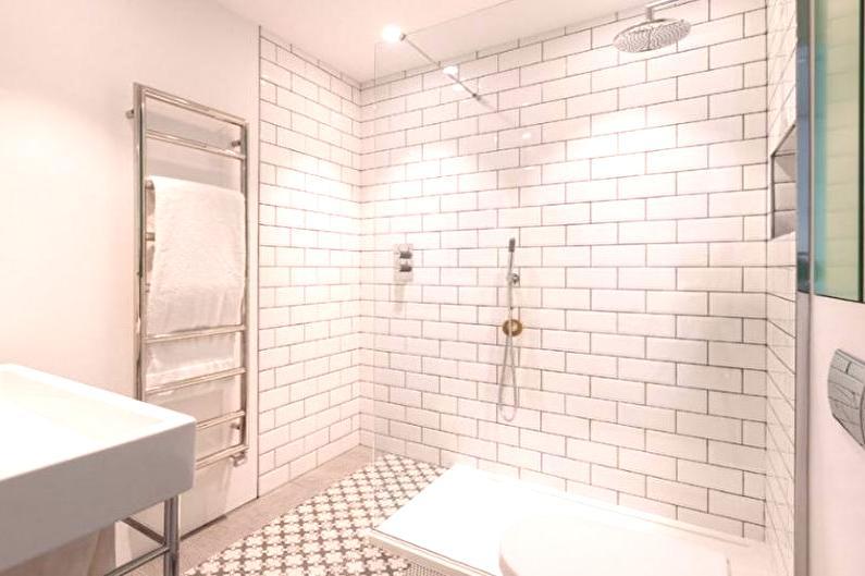 Biała łazienka Wystrój Wnętrz 65 Zdjęć