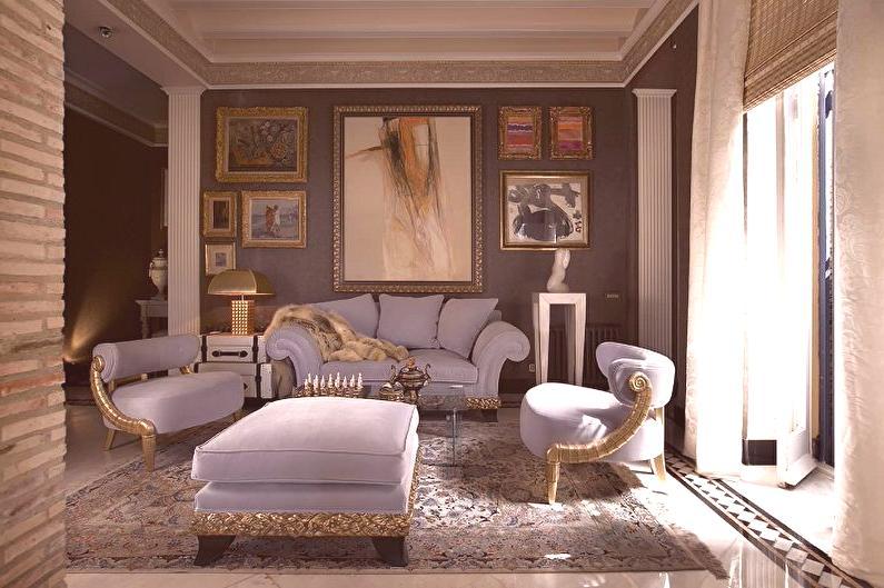 diseño clásico de sala de estar Sala De Estar De Estilo Clsico 68 Fotos Diseo De Interiores