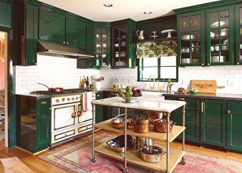 Green kitchen: ideias de design (75 fotos)