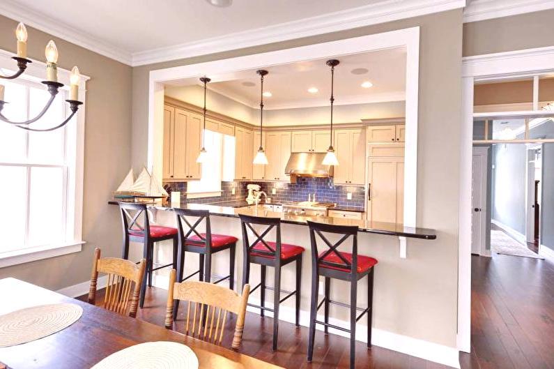 Diseño de cocina-comedor: 95 fotos, hermosos interiores, zonificación