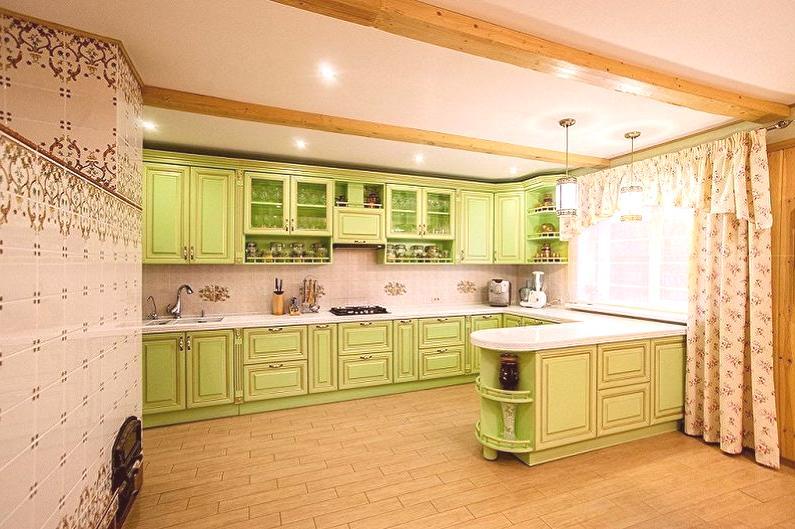 Biało Zielona Kuchnia 90 Zdjęć Wystrój Wnętrz Pomysły
