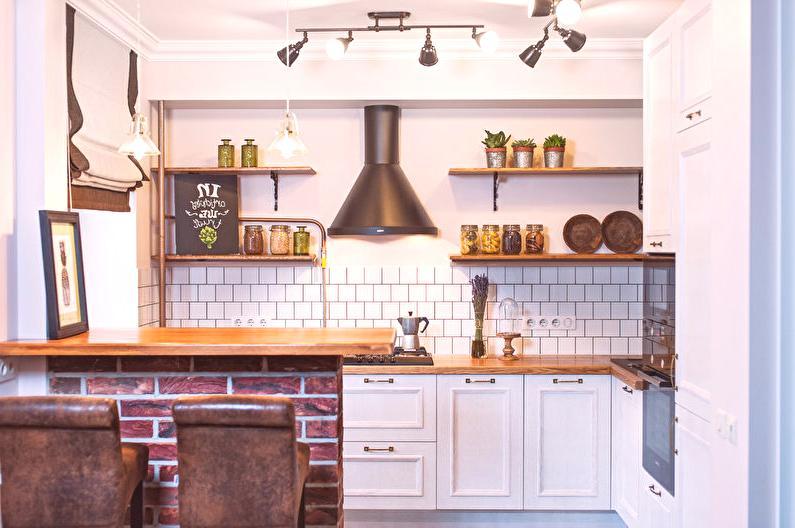 Diseñar una cocina pequeña en Khrushchev (65 fotos) - Ideas ...
