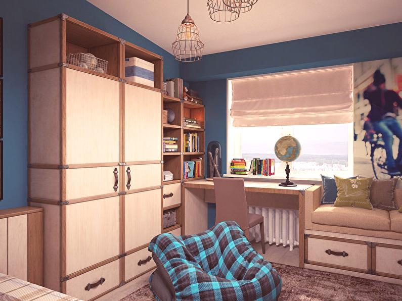 Intérieur d\'une chambre d\'enfant de style loft pour un adolescent ...