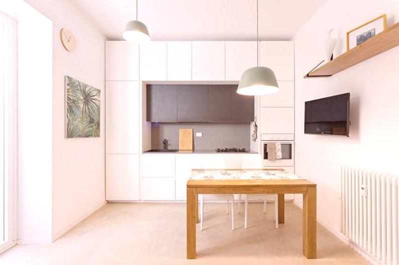 Cocina blanca (70 fotos): diseño de interiores, ideas para la ...