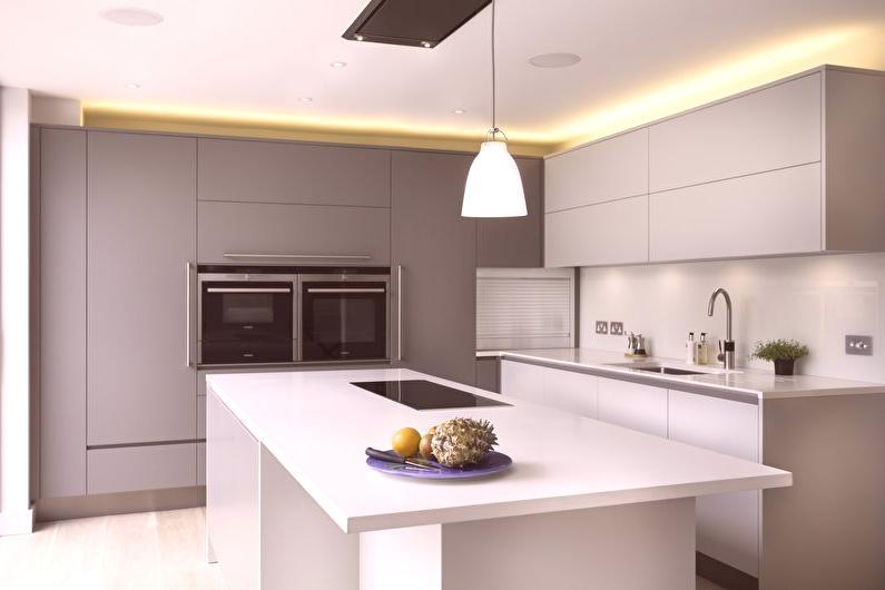 Diseño de cocinas al estilo de minimalismo: 60 fotos, cocinas ...