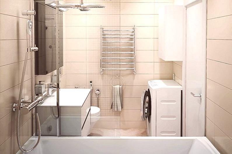 Diseño de baño de 5 m2. - 90 fotos de interiores, ideas para ...
