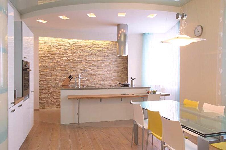 Kamień Dekoracyjny We Wnętrzu Kuchni 58 Zdjęć