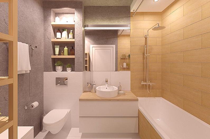 Cuarto de baño 6 metros cuadrados. (85 fotos) - diseño de ...