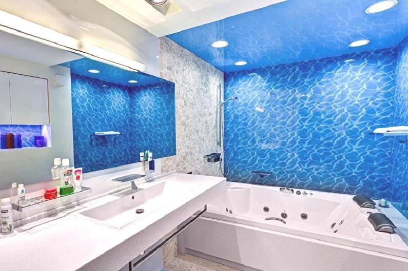 Niebieska łazienka 75 Zdjęć Pomysły Projektowe Wnętrze