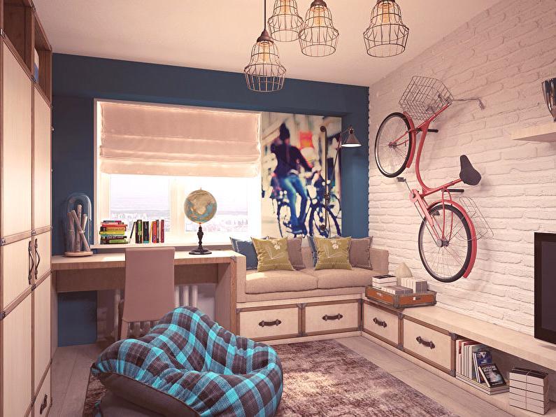 Intérieur d\'une chambre d\'enfant de style loft pour un ...