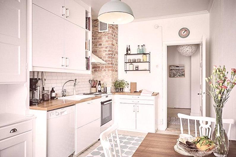 El diseño de una cocina pequeña: 100 fotos interiores, ideas para la ...