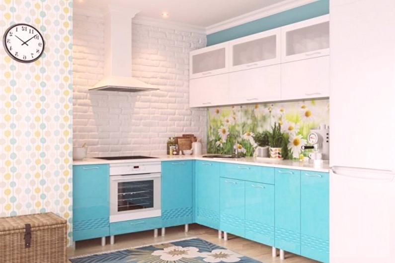 Turkusowa Kuchnia 70 Zdjec Projektowanie Wnetrz Kuchni W