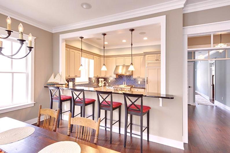 Cocina con barra (70 fotos): diseño de interiores, hermosas ...