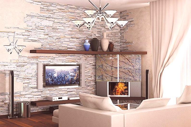Ukrasni Kamen U Interijeru 90 Fotografija Dizajn