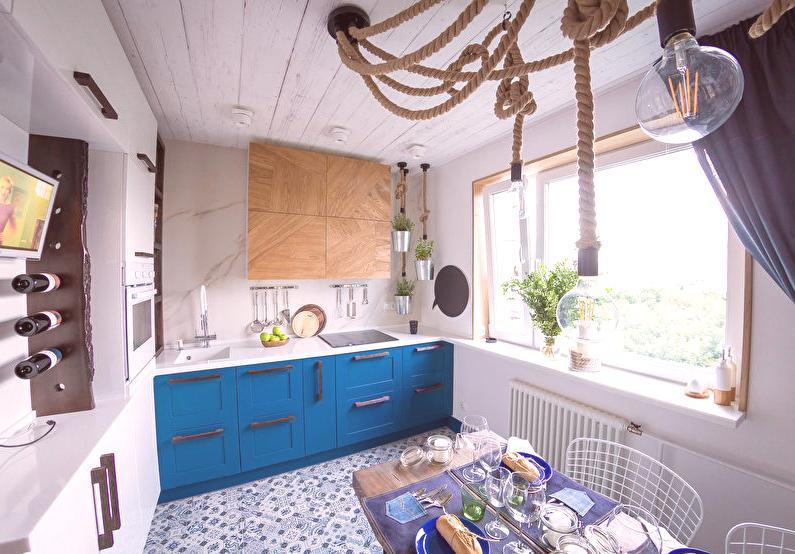 3bc214923853d Dizajn kuchyne 8 m2 - 55 fotografií, nápady na interiér