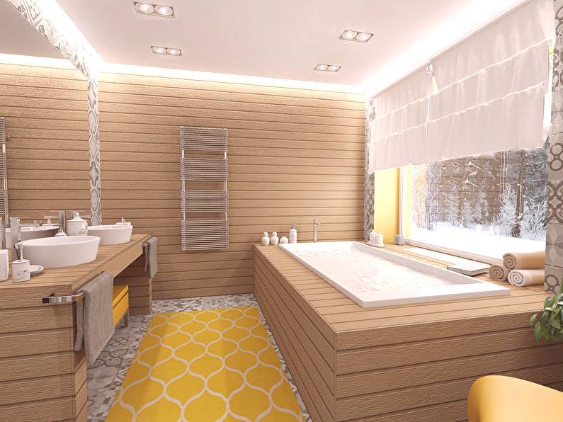 łaska Szarości Wnętrze łazienki W Prywatnym Domu Pomysły