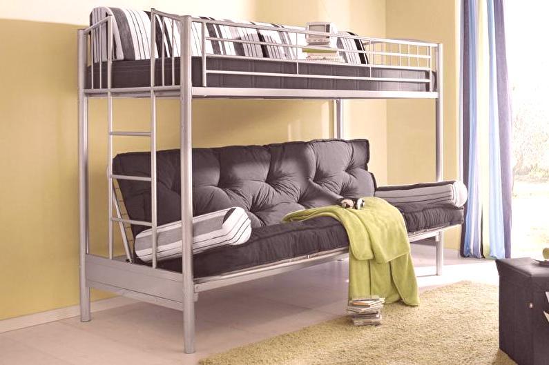 łóżko Piętrowe Z Sofą 60 Zdjęć Modele Funkcje Co Kupić