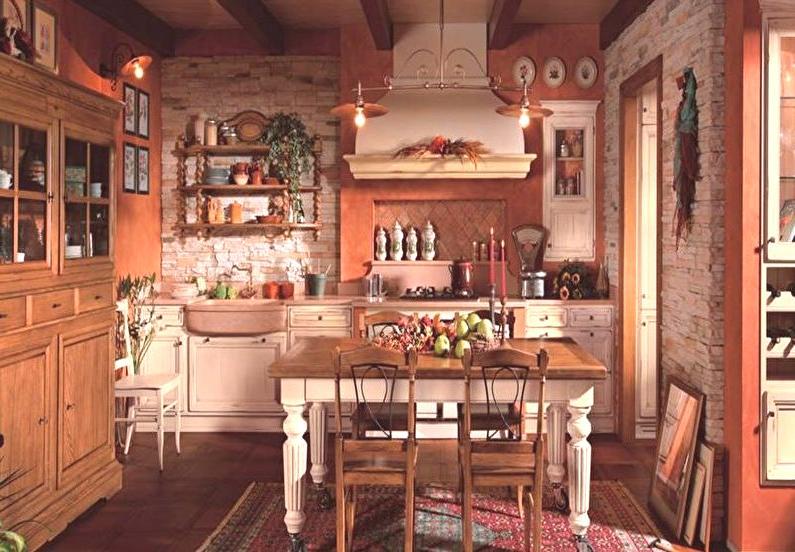 Country Style Kitchen Design Fotki 55 Pomysly Na Projekt Wnetrz