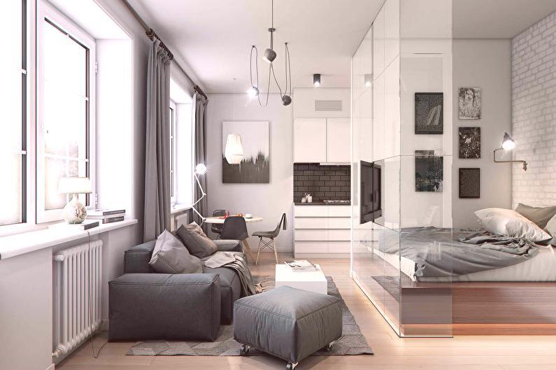 Projekt Sypialni I Salonu 73 Zdjęcia Pomysły Na Wnętrze