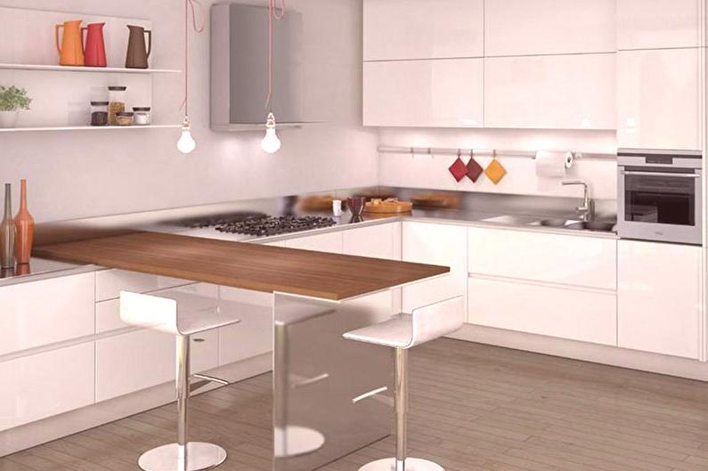 Mostradores de barra para la cocina: 80 fotos, diseño de cocina con ...