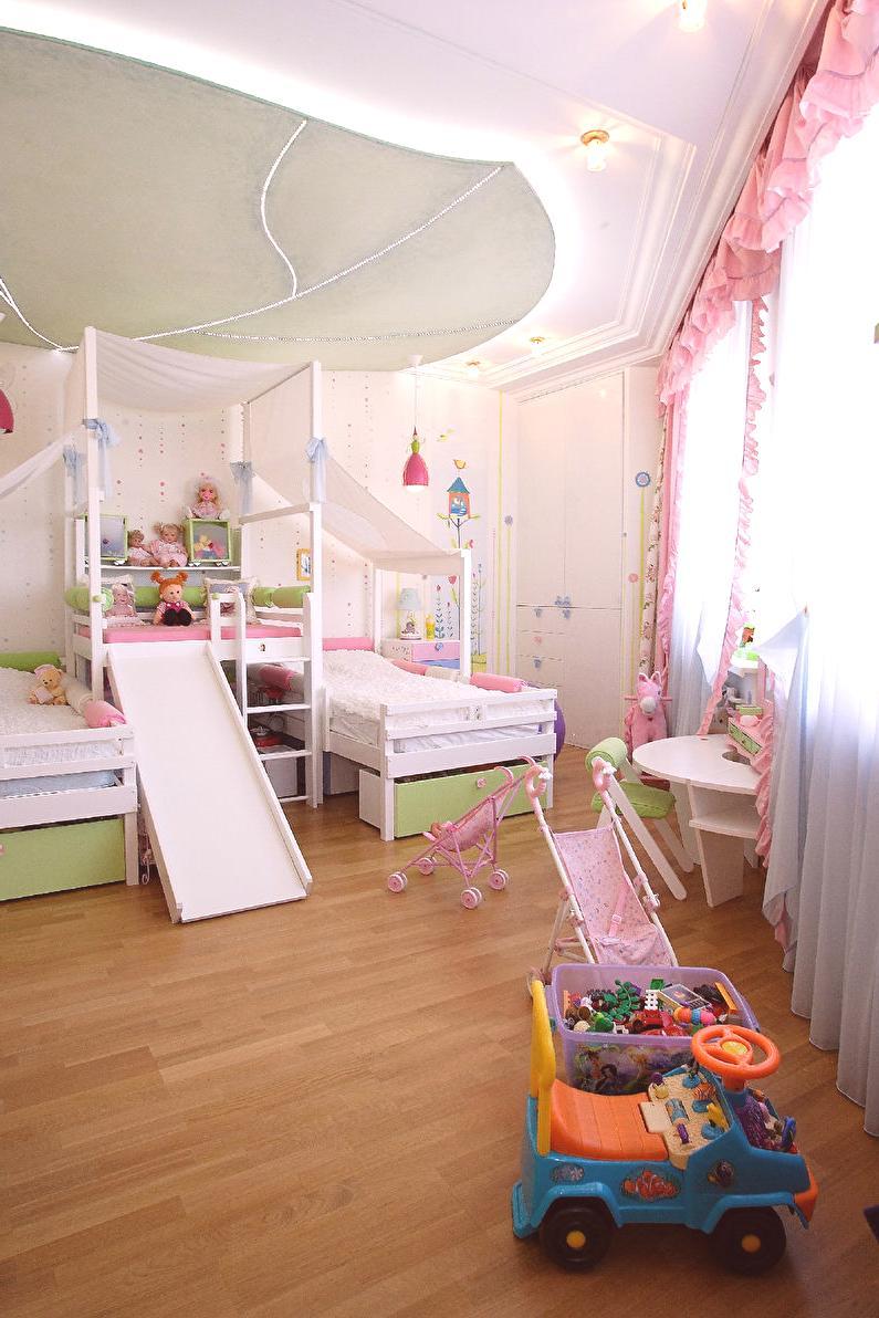 """b0681f64c2ad """"Lesná rozprávka""""  Návrh detskej izby pre dve dievčatá - nápady na dizajn  interiéru"""