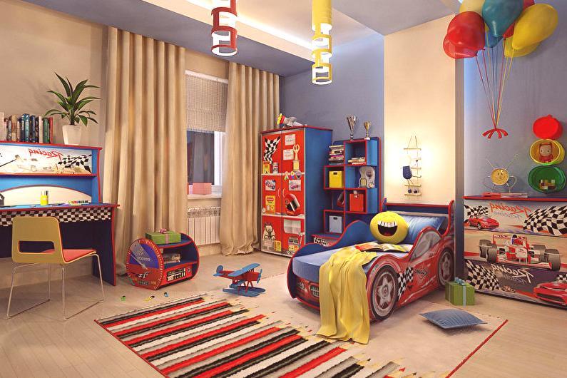 cb8849bd8 Diseño de la habitación de los niños para un niño - 75 fotos, ideas ...